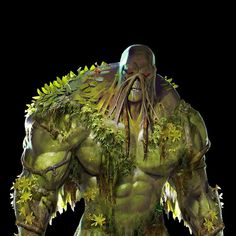 The big man on campus. •  Might leave this here for tonight.  I'll resume posting concepts tomorrow morning early   #injustice2 #swampthing #comics #dc