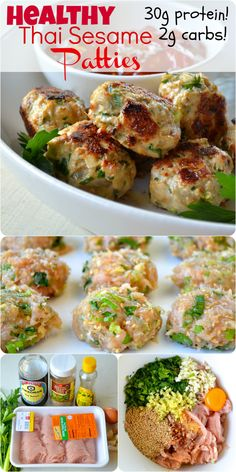 What I Ate Wednesday: Healthy Thai Sesame Patties - Apple of My Eye (Keto Sesame Chicken) Clean Recipes, Paleo Recipes, Cooking Recipes, Candida Recipes, Advocare Recipes, Cooking Bacon, Protein Recipes, Thai Food Recipes, Clean Meals
