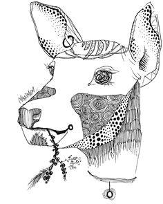 #illust#illustration#dear#일러스트#사슴  사슴을그릴때도 더매력있게 꾸며주는거죠 그게좋아요:)