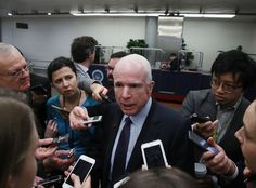 """Sen. John McCain spoke out Saturday in defense of the free press after President Trump lashed out against the news media several times over the past week, at one point declaring it""""<a data-pwa=""""link"""" href=""""https://www.washingtonpost.com/news/post-politics/wp/2017/02/17/trump-calls-the-media-the-enemy-of-the-american-people/?utm_term=.4e3baae02c97"""">the enemy of the American People!</a>"""""""