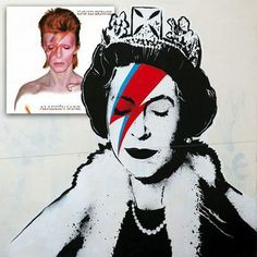 """BANKSY CELEBRATES ZS40 WITH A LIZ INSANE    """"One's painting one's face...""""    If you're in the UK you can't have failed to notice news coverage of genius street artist Banksy's ( http://www.banksy.co.uk/ ) latest creation."""