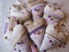 Cuori con violette