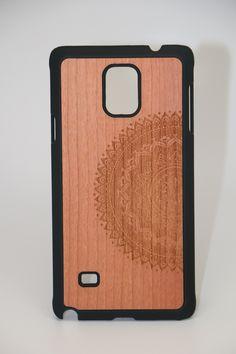 Samsung Note 4 Half Mandala 2 Slim Wood Case