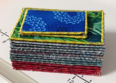 How to create a textile artist trading card