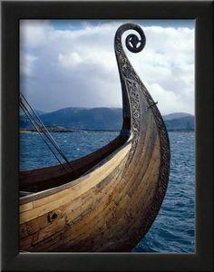 Oseberg Replica Viking Ship, Norway Photographic Print by David Lomax at AllPosters.com