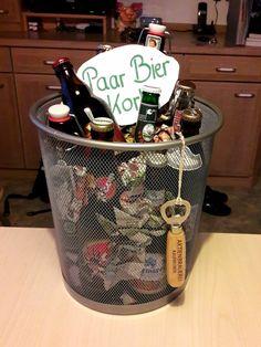 Paar Bier Korb Geschenk Bier Geburtstag Männer Opa Geburtstag