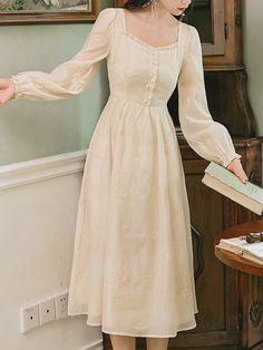 Boho Summer Dresses, Casual Dresses, Boho Style Dresses, Dress Summer, Boho Dress, Old Fashion Dresses, Fashion Outfits, Jw Moda, Chifon Dress