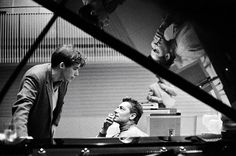 Glenn Gould (1932-1982) and Herbert von Karajan (1908-1989)