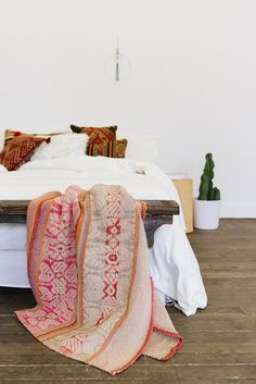 Southwestern bedroom with cactus