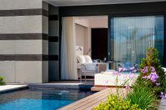 Aqua Blu Boutique Hotel & Spa, Luxury Hotel in Kos, Greece Small Luxury Hotels, Top Hotels, Hotels And Resorts, Interior Design Photos, Interior Design Inspiration, Hotel Suites, Hotel Spa, Greece Hotels, Modern Office Design
