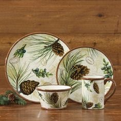 Walk in the Woods Dinnerware from The Cabin Shop