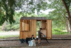 An Ecuador Couple Seek Out Adventure in a DIY Tiny Cabin on Wheels #dwell #tinyhomes #itinyhomeonwheels