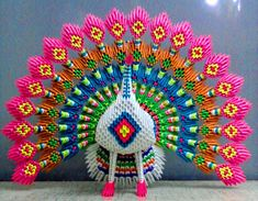 origami 3D pavo - Buscar con Google