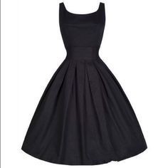 Black cotton vintage dress Black cotton vintage dress Dresses Midi