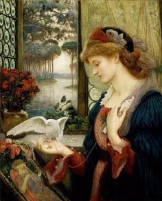 Oil Paintings Beautiful Lady DMC Cross Stitch Kits for Embroidery Home Decor Needlework Diamond Painting Sexy Women and bird #Affiliate