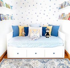 The cutest little reading nook we ever did see! : Our Daydream Beddys was recently restocked but once again its going fast! Painted Beds, Painted Drawers, Girls Bedroom, Bedroom Decor, Ikea Bedroom, Bedroom Wall, Nursery Decor, Bedroom Ideas, Beddys Bedding