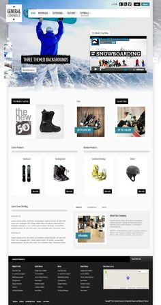 General Commerce is a responsive WordPress theme a great design for any store or corporate style website! The design is laid out in such a way that you can take it and go in any direction for you website needs! If you are building an ecommerce website you can simply plugin a store component. If you need a plain corporate style layout, no problem the design is also great for this. This month we added a stylish option for the top row 1 positions.