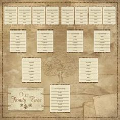 Ancestry - Our Family Tree Chart