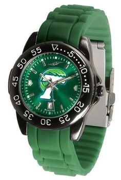 Tulane Green Wave Watch. The Suntime Watches Fantom Sport AC boasts a bold but not in-your-face Green Wave logo a team color Ano-Chrome dial. The watch features a color-coordinated silicone band. The