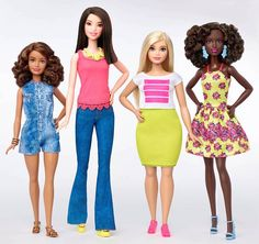 Well, now Barbie's got company. You can add her tall, petite, and curvy friends to the club. Mattel just launched three new dolls aimed at making more body types and sizes available to Barbie fans. New Barbie Dolls, Barbie And Ken, Mattel Barbie, Fat Barbie, Barbie Style, Petite Body Types, Petite Size, Barbie World, Gi Joe