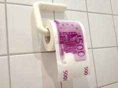 500 Euroschein Toilettenpapier