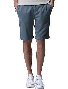 NWT-Match-Mens-Chino-Shorts-Regular-Fit-Flat-Front-Cotton-INDIGO-BLUE-US-Size-29