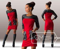 1da79016d06 трикотажное красное платье со вставками из экокожи  22 тыс изображений  найдено в Яндекс.Картинках