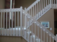 Make your home look better in less than 10 minutes, it's possible! Rustic Stairs, Wooden Stairs, Banisters, Stair Railing, Metal Railings, New Staircase, Staircase Ideas, Banister Remodel, Stacked Stone Walls