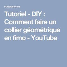 Tutoriel - DIY : Comment faire un collier géométrique en fimo - YouTube