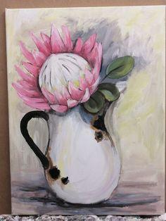 By Wilma Potgieter Scrapbook Albums, Scrapbooking, Girls With Flowers, Seashell Art, Garden Crafts, Sea Shells, Pink, Enamel, Paintings