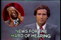 For Weekend Update, Chevy Chase always had the top story of the night retold for the hard of hearing. Garrett Morris would show up in the box and shout it so everyone could hear it. Best Of Snl, Snl Weekend Update, Garrett Morris, Snl Characters, Snl Saturday Night Live, Chevy Chase, Old Tv Shows, Yesterday And Today, Funny People