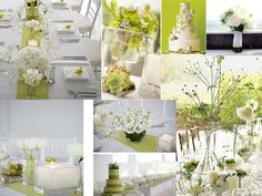 Green and White : PANTONE WEDDING Styleboard : The Dessy Group