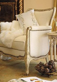 With elegant lines and classic style, the Bridgette Chair will add comfort and sophistication to your sitting room or formal living room.