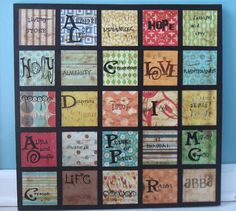 Names of God - what about doing it as an alphabet???