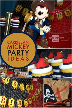 Caribbean Mickey Pirate Birthday Party Ideas   Spaceships and Laser Beams