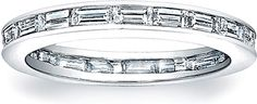 On a lookout for a special and sparkly, yet elegant and sleek wedding band? How about this timeless stylish band offered by Since 1910, with 1.50 ct. tw. channel-set straight baguette diamonds forming a single row around the whole diameter? www.diamonds.pro
