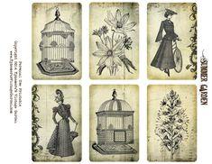 Ephemera's Vintage Garden: Free Printable - Summer Garden Cards. For personal use only.                                                                                                                                                     More