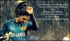 Not every player gets their deserved farewell ; Kumar Sangakkara, Always Shine, Bright Stars, Cricket, Community, Club, Baseball Cards, Sports, Sri Lanka
