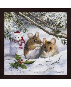 Metaverse Snow Mouse By Susan Rios Framed Art Christmas Pictures, Christmas Art, Vintage Christmas, Christmas Holidays, Christmas Bunny, Xmas, Maus Illustration, Illustrations, Mouse Pictures