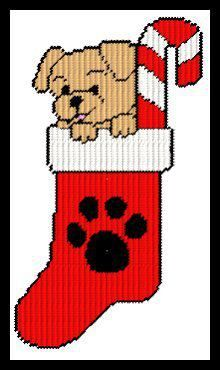 Puppy In Stocking 2