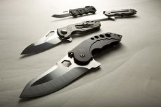 everyday-cutlery:  Surefire Folders by johndoukas  These are some of the best knives Ive tried