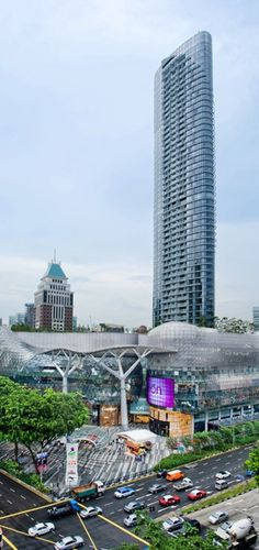 The ION Orchard Residences, Singapore designed by RSP Architects :: 56 floors, height Mix Use Building, High Building, Beautiful Architecture, Landscape Architecture, Public Architecture, Shoping Mall, Mall Facade, Eco City, Arquitetura