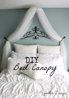 43 Clever DIY Ideas for Renters DIY Renters Decor Ideas – DIY Bedroom Canopy – Cool DIY Projects for Those Renting Aparments, Condos or Dorm Rooms – Easy Temporary Wall Art, Contact Paper, Washi Tape and Shelves to Make at Home http (Cool Bedrooms Easy) Girl Room, Girls Bedroom, Dream Bedroom, Bedrooms, Master Bedroom, Diy Bedroom Decor, Diy Home Decor, Bedroom Ideas, Diy Bedroom Projects
