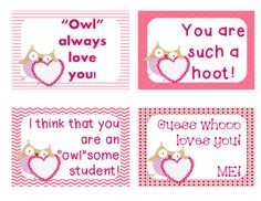 FREE Valentine's Day cards for your students--24 unique messages by 2nd Grade Snickerdoodles