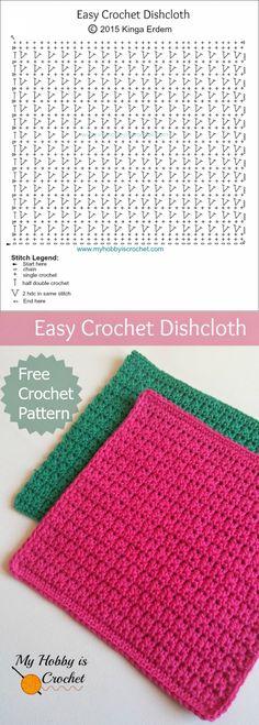 Crochet Dishcloth PatternTo Beautify Your Kitchen | Pinterest