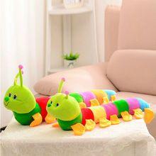 Macio encantador Developmental brinquedo de criança brinquedo Popular novo colorido lagarta brinquedo de pelúcia(China (Mainland))