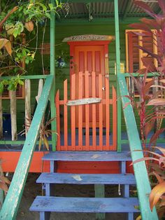 Belize Colours, weathered naturally by hot sunny days, cooling trade winds and hurricanes wow