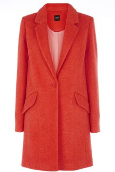 Womens tomato coat from Oasis - £35 at ClothingByColour.com