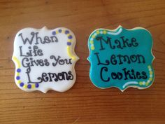 Lemon cut out cookies with lemon flavored royal icing