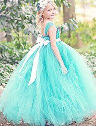 Flower+Girl+Dress+For+Girls+Ball+Gown+Ankle-length+-+Tulle+/+Polyester+Sleeveless+Spaghetti+Straps+–+USD+$+200.00